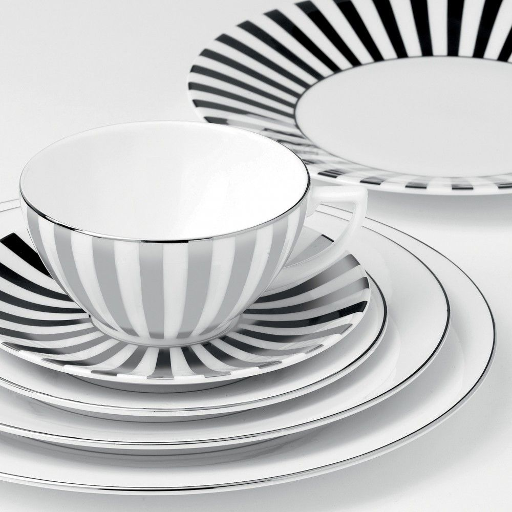 Wedgwood Jasper Conran Platinum Striped Plate 23cm | Wedgwood® UK  sc 1 st  Pinterest & Wedgwood Jasper Conran Platinum Striped Plate 23cm | Wedgwood® UK ...