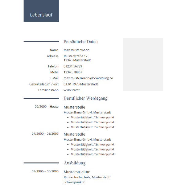 Lebenslauf-Muster modern professionell | CV Layouts | Pinterest ...