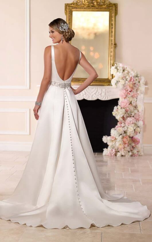 Satin A-Line Wedding Gown   Stella york, Gowns and Wedding dress