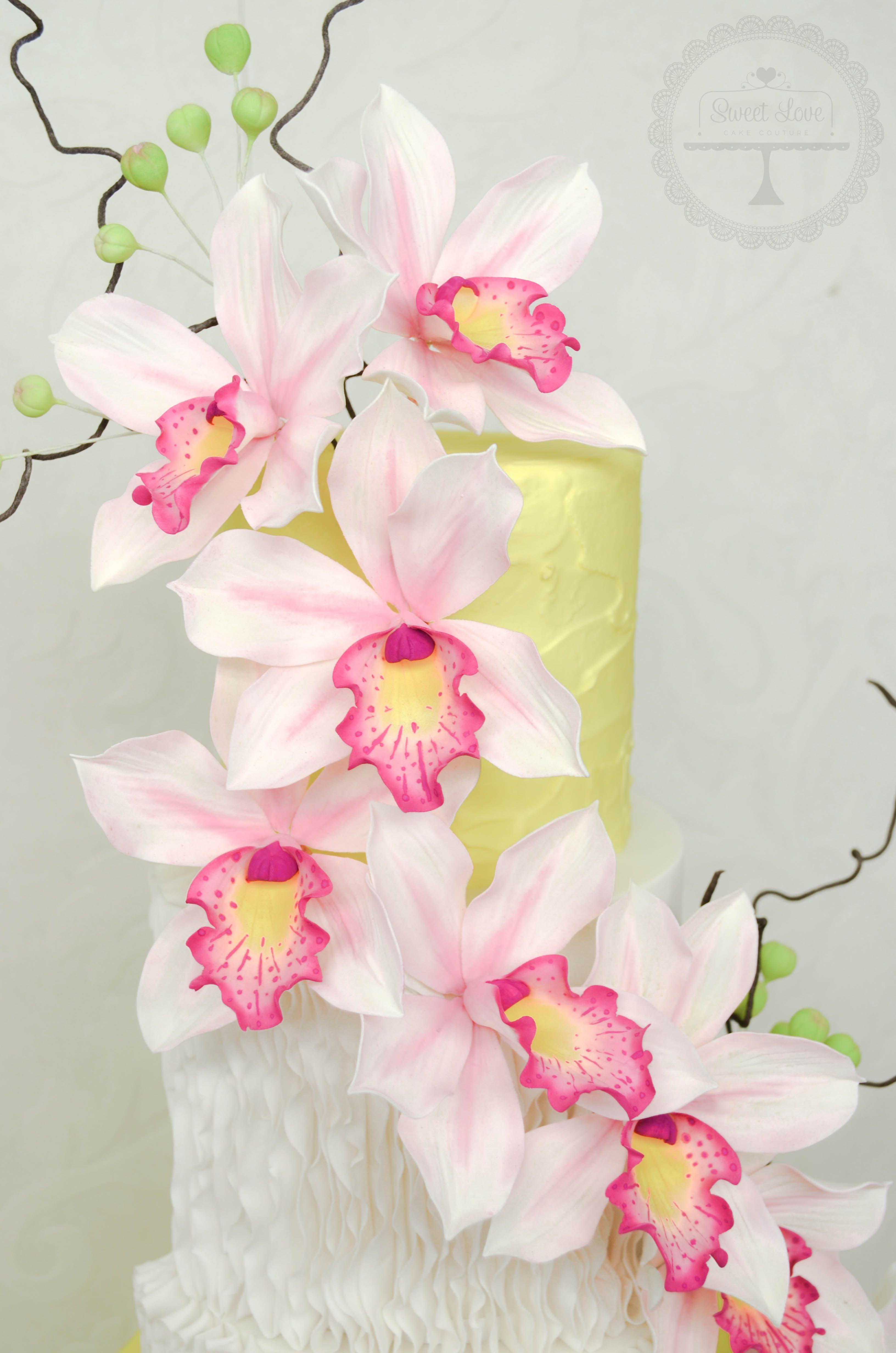 Orquidea De Pasta Gum Paste Fondant In 2018