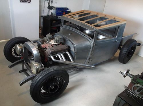 Y Block Powered Channeled 29 Body 35 Ford Wire Wheels All