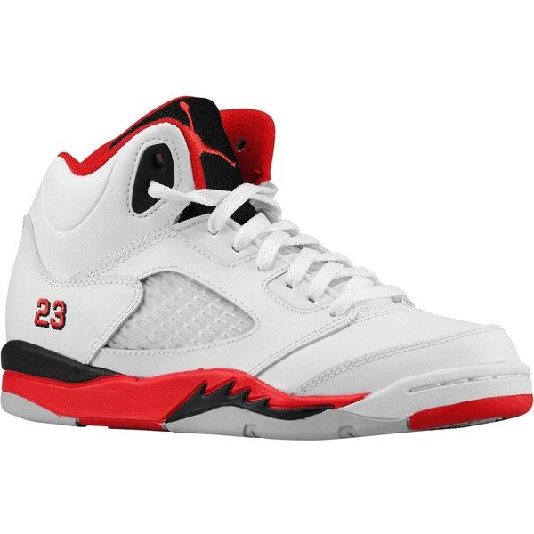 86db134519ee47 Jordan Retro 5 Boys  Preschool ( 75) ❤ liked on Polyvore featuring shoes