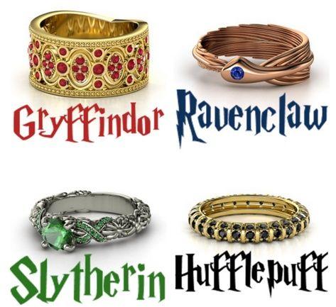hogwarts house rings에 대한 이미지 검색결과 | Jewelry | Harry potter ...  hogwarts house ...