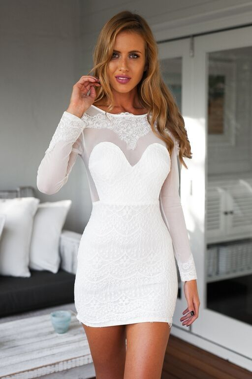 Mesh Lace Long Sleeve Bodycon Dress | Sexy, Mount abu and Sleeve ...
