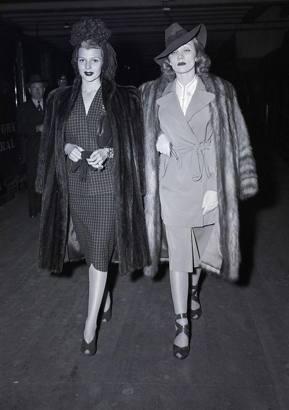 Rita Hayworth & Marlene Dietrich being badass