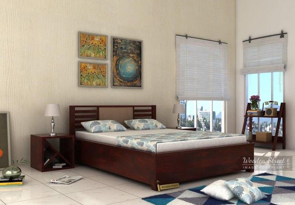 Best Buy Hether Hydraulic Bed King Size Mahogany Finish 400 x 300