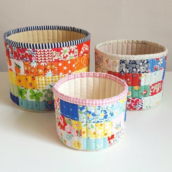 Tub Family. PDF Pattern. Fabric baskets. Storage. Instant | Etsy