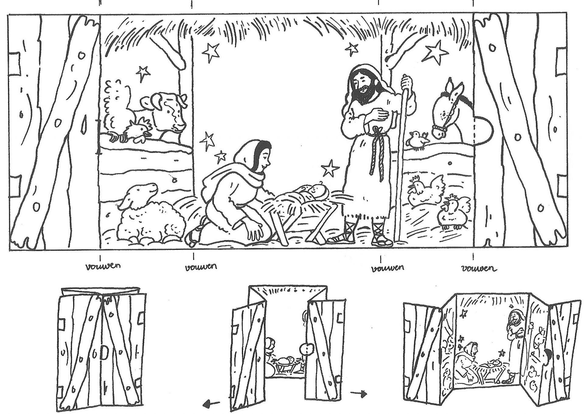 Knutselwerkje Kerststal Bible Craft Manger Basteln In Der Sonntagsschule Sonntagsschule Basteln Weihnachten Kinder