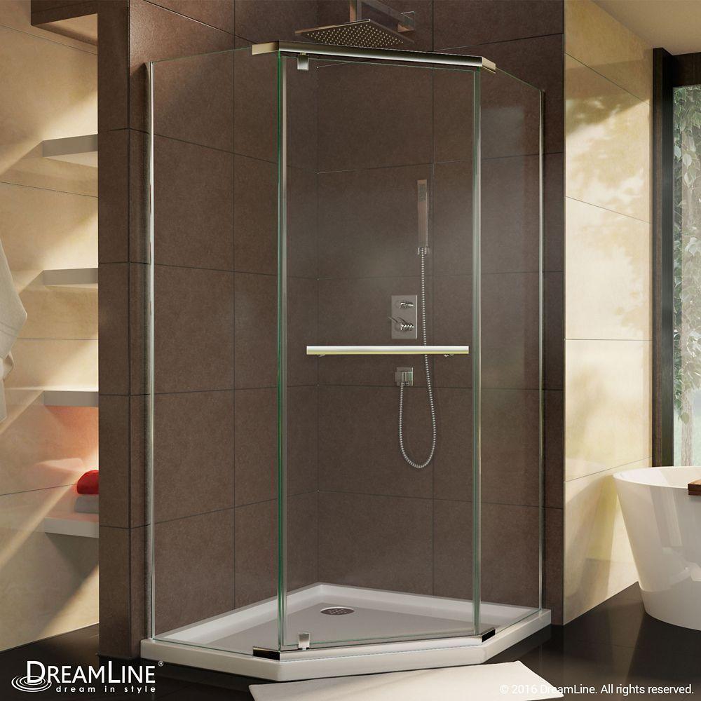 Prism 36-1/8-inch x 72-inch Semi-Frameless Neo-Angle Pivot Shower ...