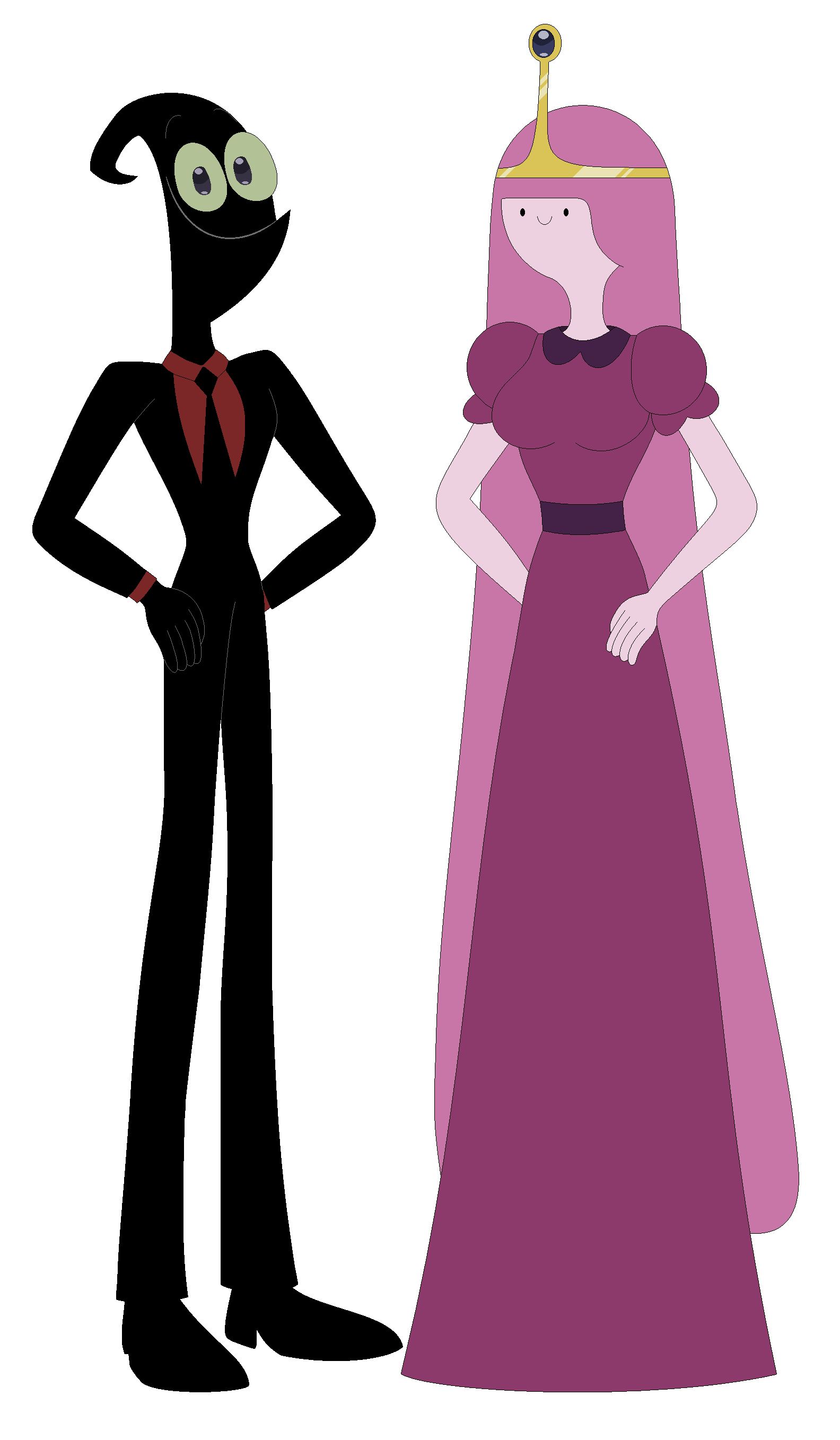 Nergal And Princess Bubblegum Standing Pose Bubblegal Cartoon Network 2019 Art By Nathaniel Princess Bubblegum Standing Poses Aurora Sleeping Beauty