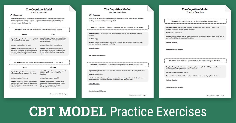 Worksheets Cognitive Distortion Worksheet cbt practice exercises worksheet self talk cognitive distortions exercises