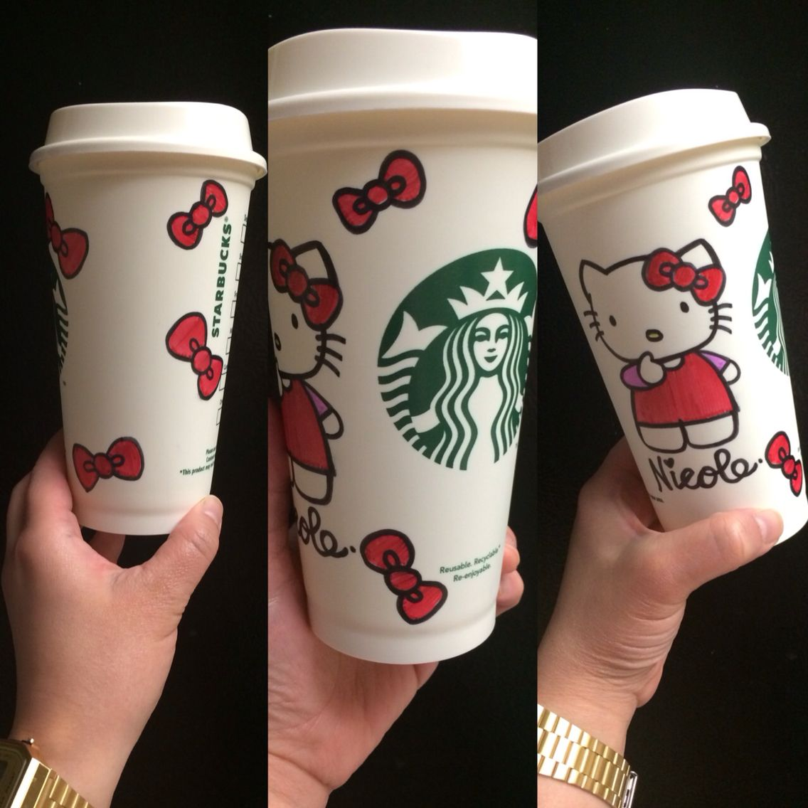 Hello Kitty Reusable Starbucks Cup Requested By A Friend