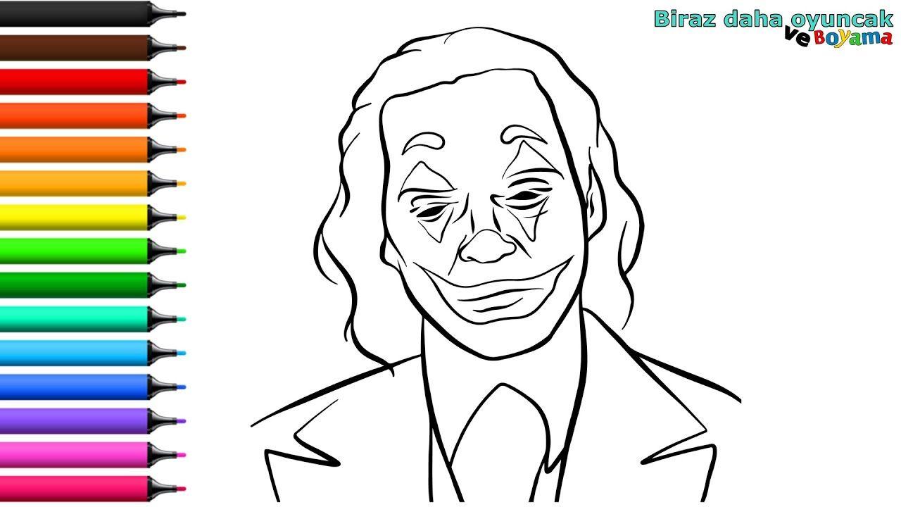 Joker Boyama Sayfasi Cocuklar Icin Boyama Videolari Boyama Oyunlari 2020 Joker Boyama Kitaplari Videolar