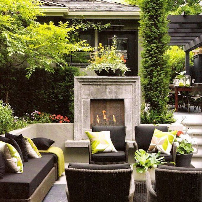 Garden Ideas On Instagram Design Garden Landscape Art Beautiful Idea Outdoor Decor Pool Interi In 2020 Outdoor Fireplace Designs Outdoor Rooms Outdoor Living Space