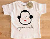 Camiseta bebé: Soy una monada Camiseta pintada a mano  Mono chica