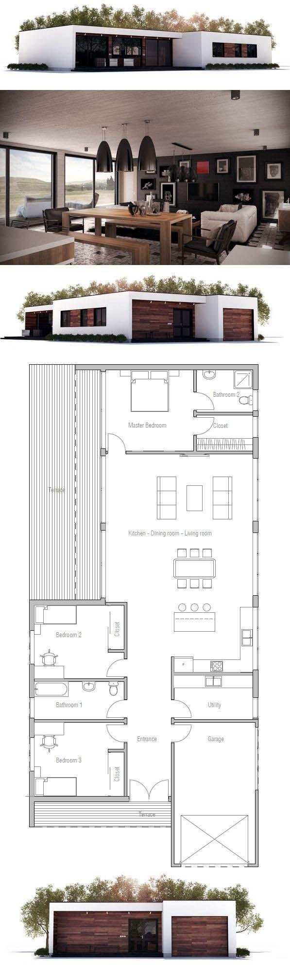 Small house plan constrir es el arte de crear for Minimalistisches haus grundriss