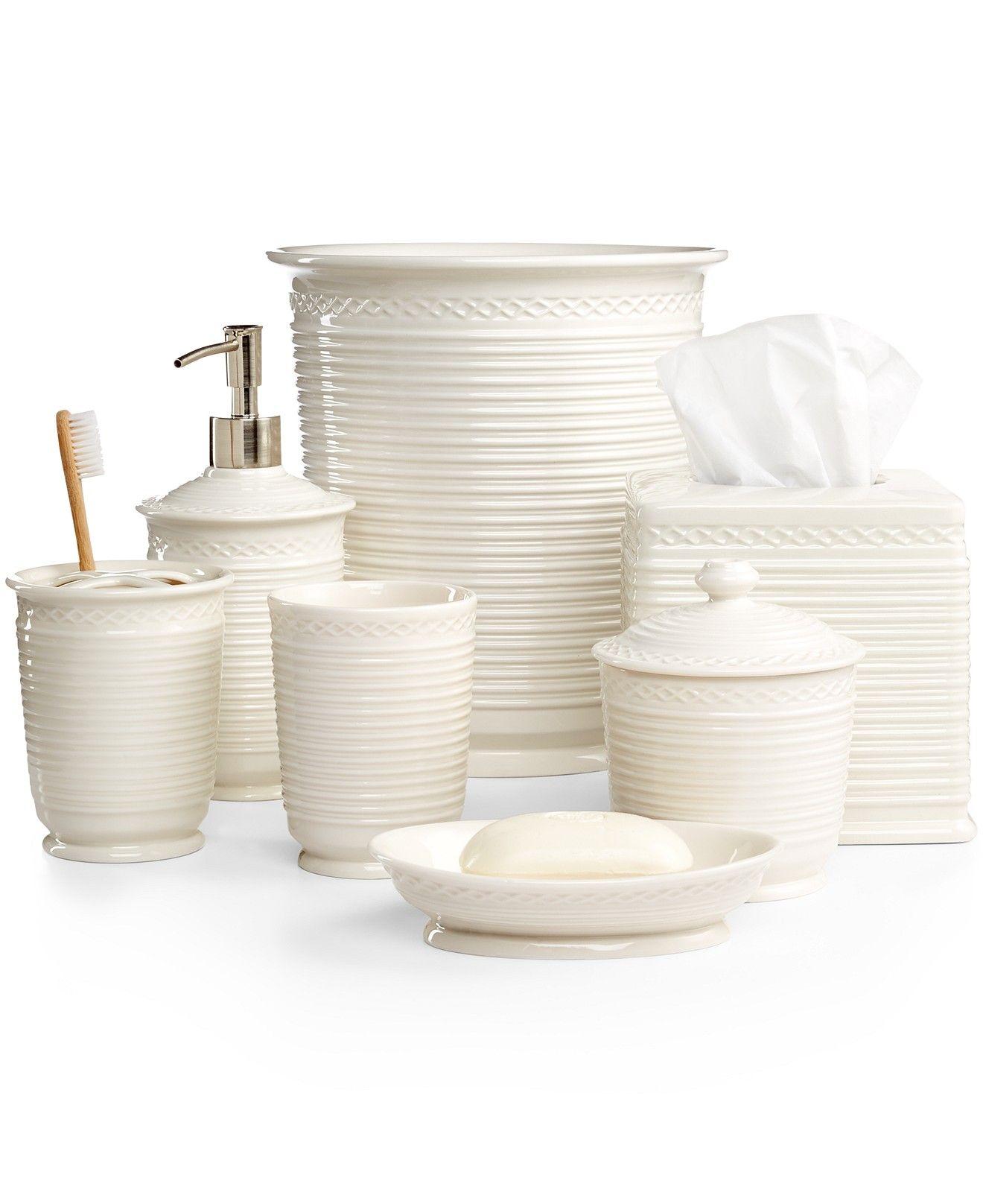 Martha Stewart Collection Trousseau Bath Accessories Bathroom Bed Macy S Home