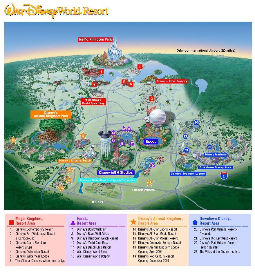 Walt Disney World Resort...my most favorite map EVER!!!   DISNEY ...