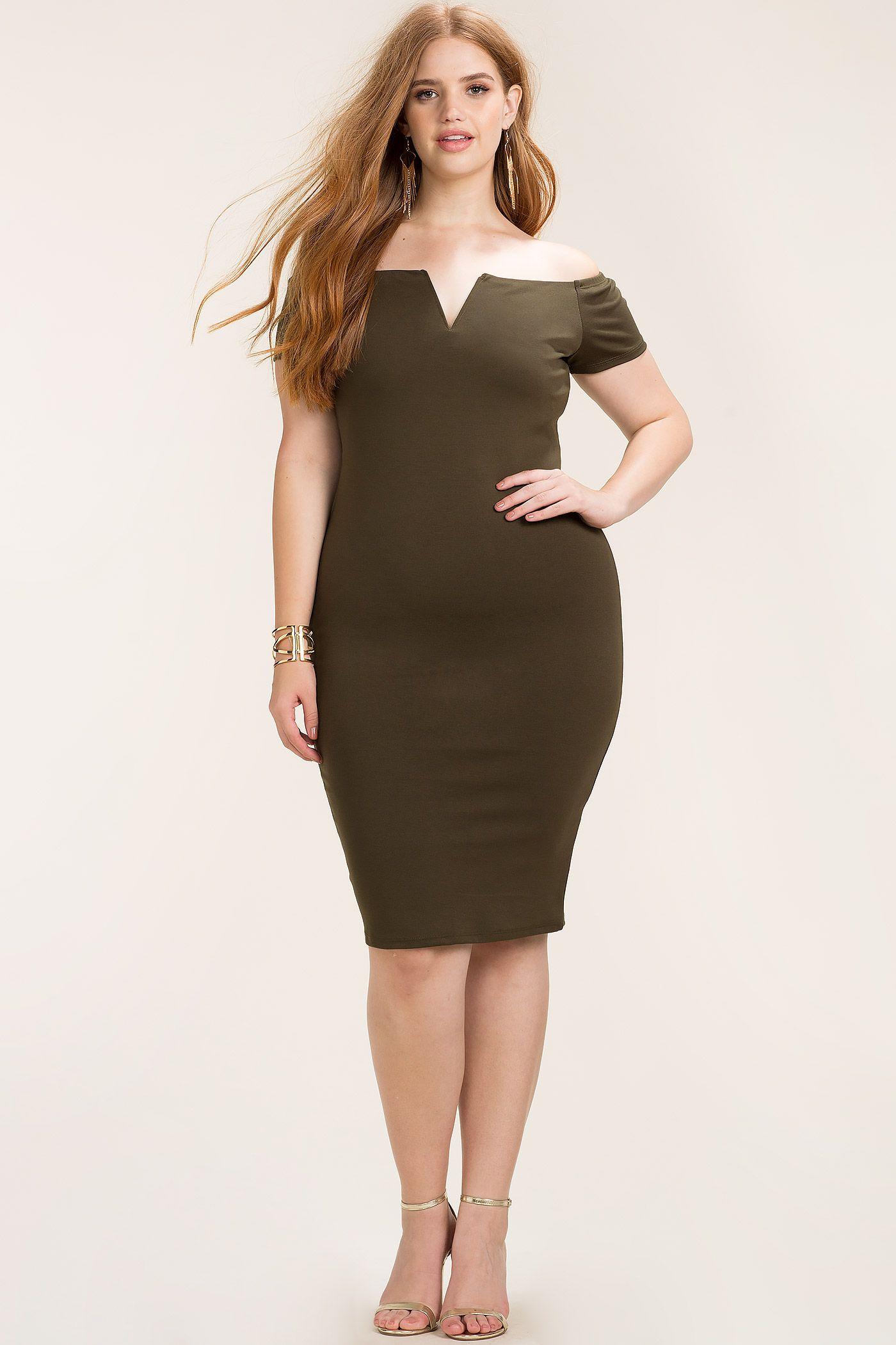 Women\'s Plus Size Bodycon Dresses | Desiree Off Shoulder Bodycon ...