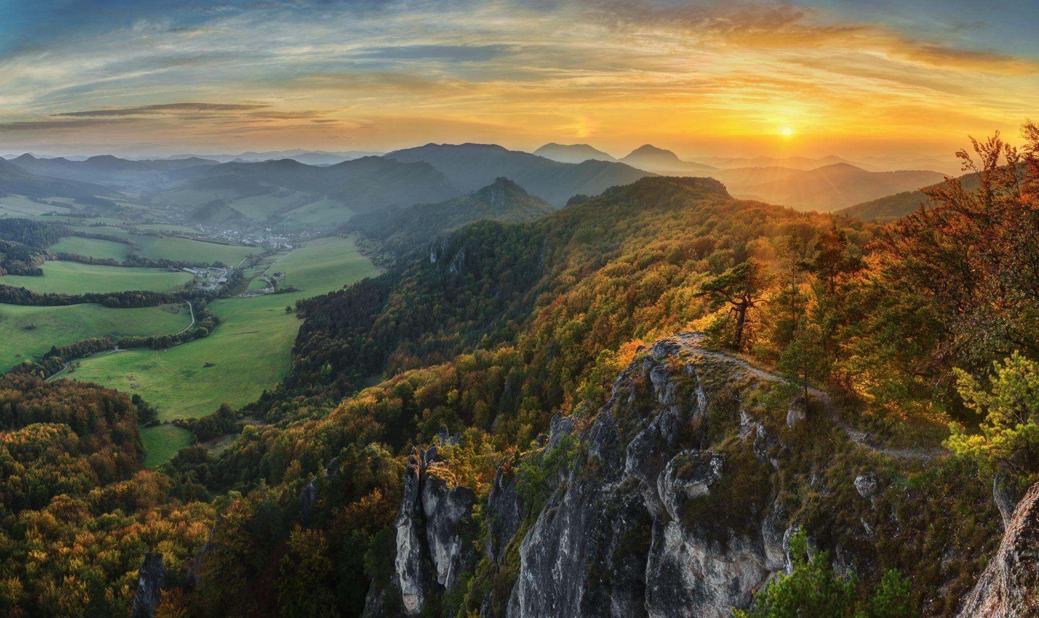 Autumn sunset - Sulov Mountains, Slovakia