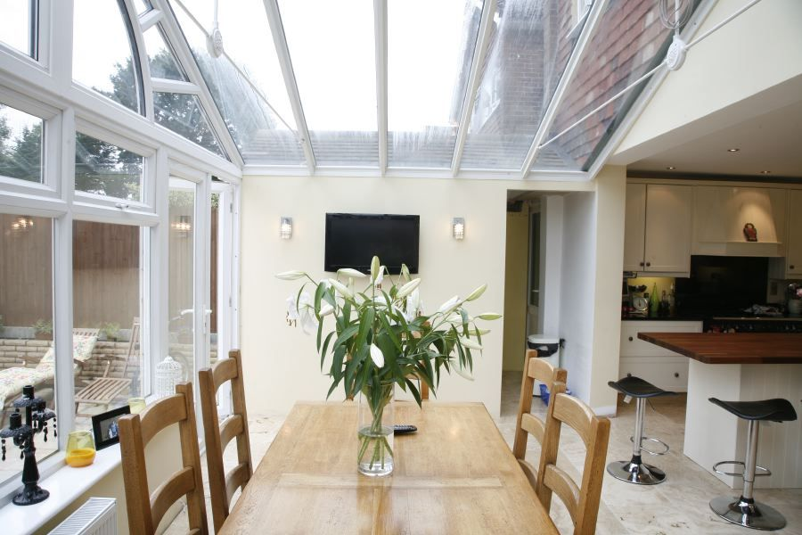 Conservatory next to extension google search home is for Conservatory kitchen extension ideas