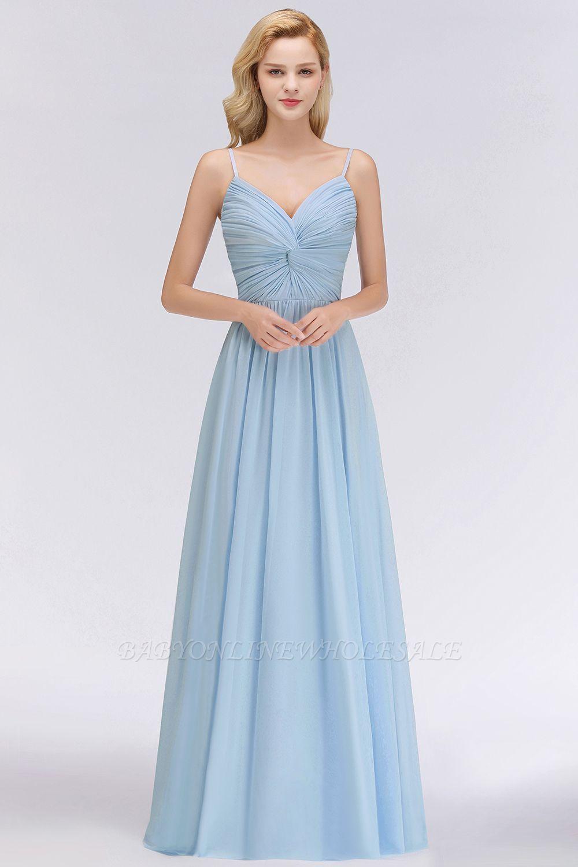 Elegantes Brautjungfer Kleid Hellblau  Brautjungfernkleider Mit