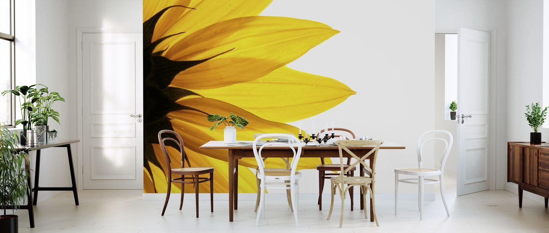 Sunflower Detail – trendy wall mural – Photowall #sunflowerbedroomideas