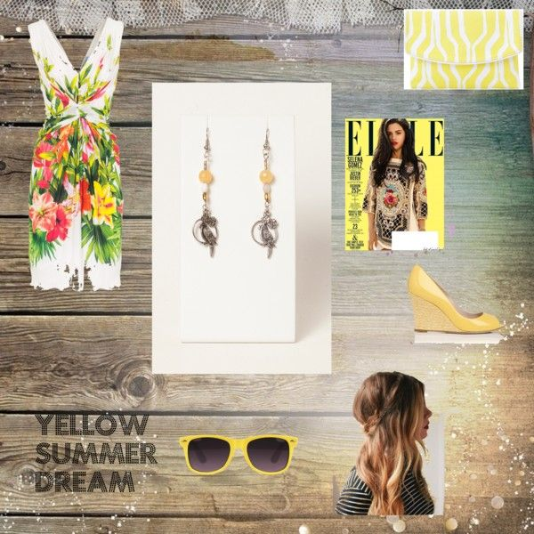 """""""Yellow summer dream"""" by rere2111 on Polyvore"""