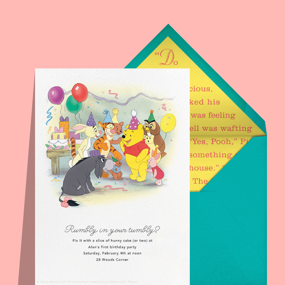 Pooh Party – Birthday Invitation from Paperless Post | Baby <3 ...