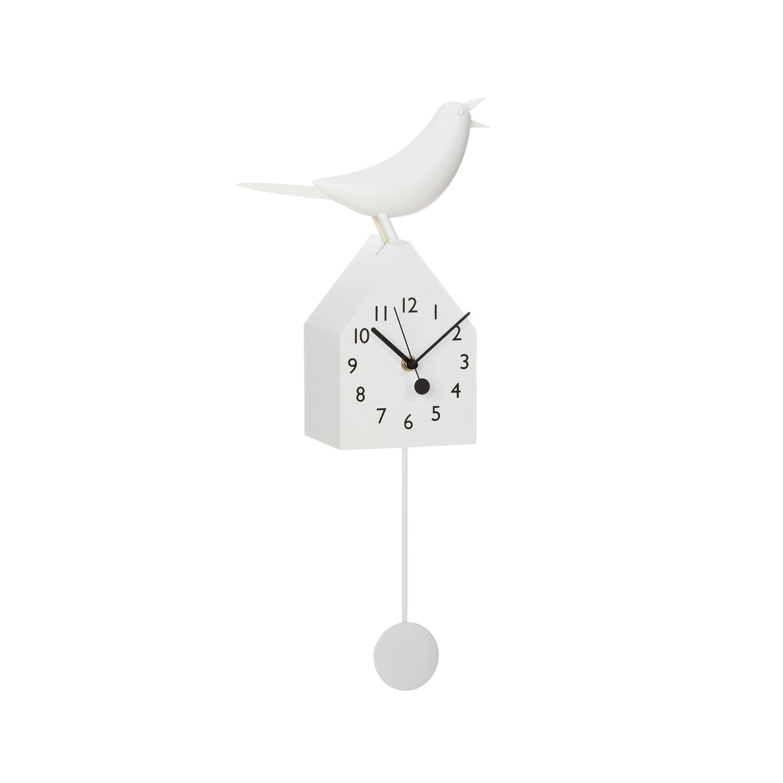 This motion clock takes a typical birdhouse clock to a more chic ...