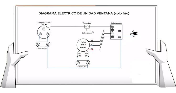 diagrama el u00e9ctrico de aire acondicionado de ventana 220v  u00bb friolandia service