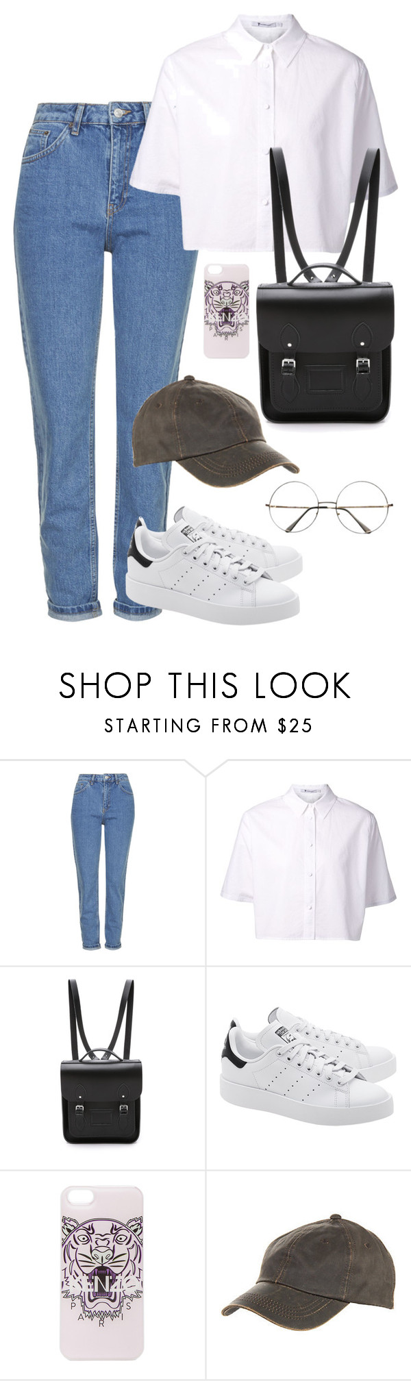 """BTS concert // Rap Monster"" by berrie95 on Polyvore featuring Topshop, T By Alexander Wang, The Cambridge Satchel Company, adidas Originals, Kenzo, Retrò, Overland Sheepskin Co., ConcertOutfit, bts and BangtanBoys"