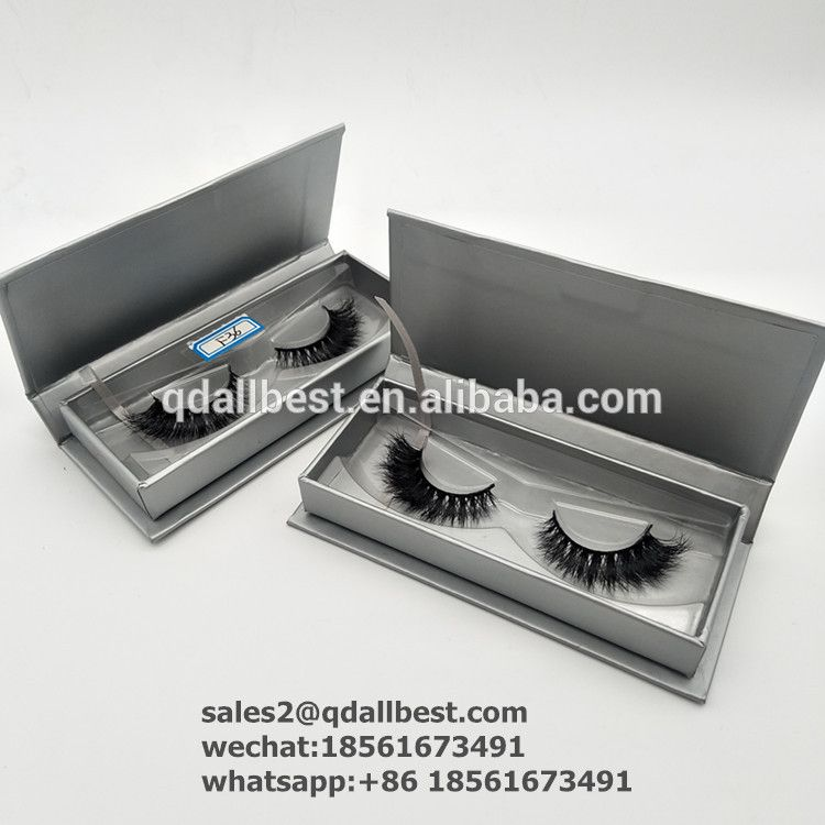 Wholesale Top Quality Custom Glitter False Lash Box Silver Empty