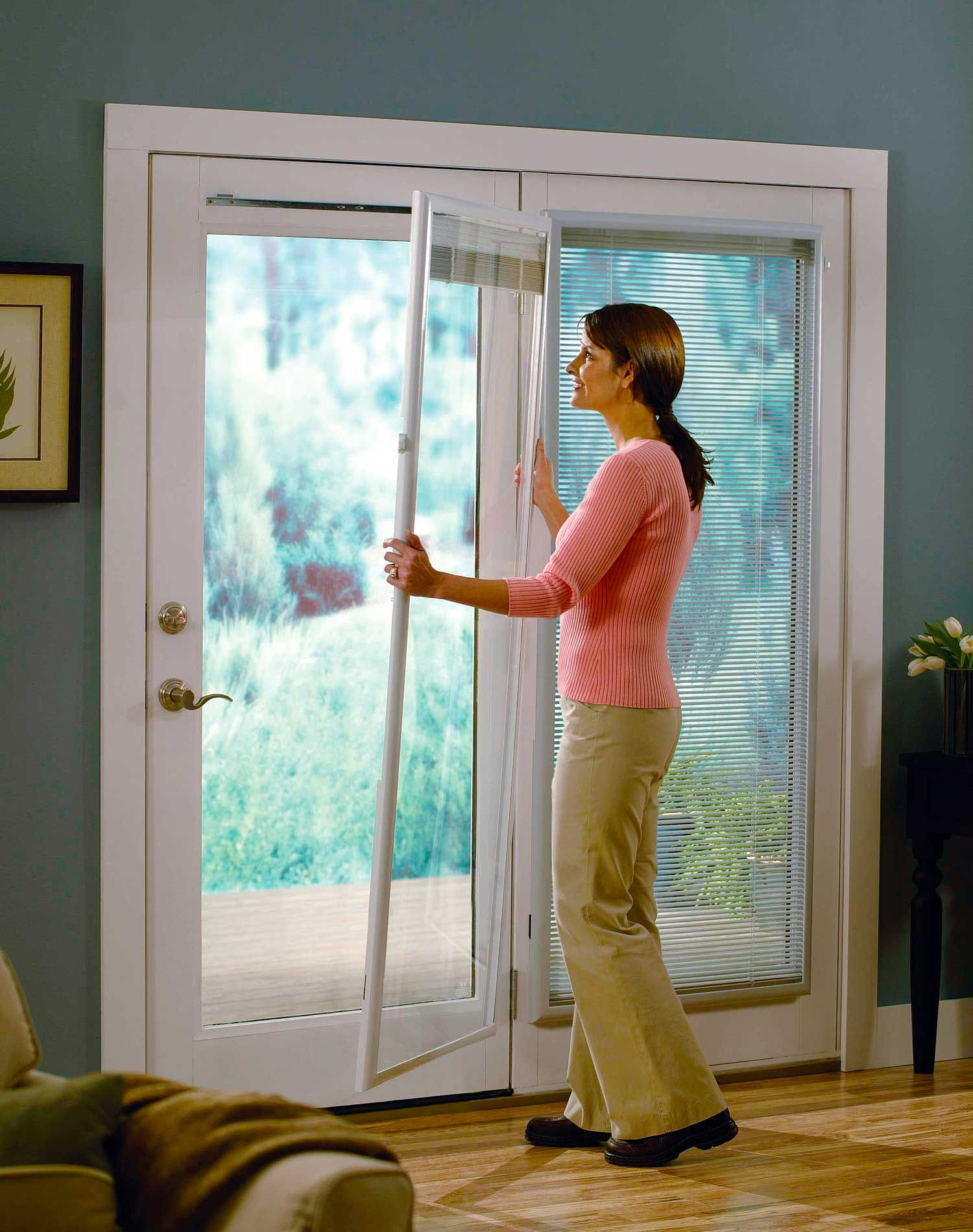 glass odl inserts frames door and blinds front frosted with full of on size doors for exterior entry add between patio