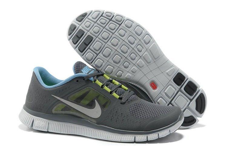 Herresko Nike Free Run+ 3 Grå Sølv Lysblå