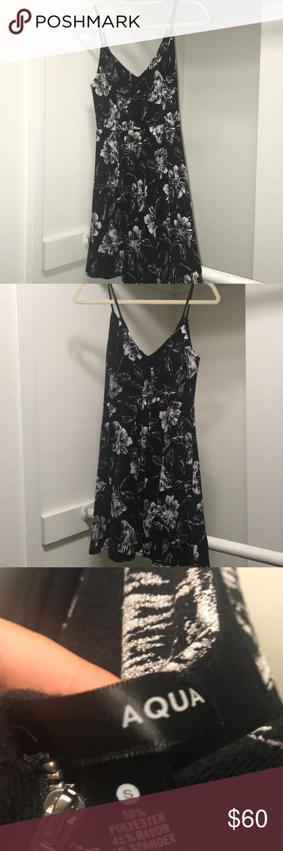 Aqua Black Flower Dress Black Flower Dress Flower Dresses Dresses [ 1740 x 580 Pixel ]