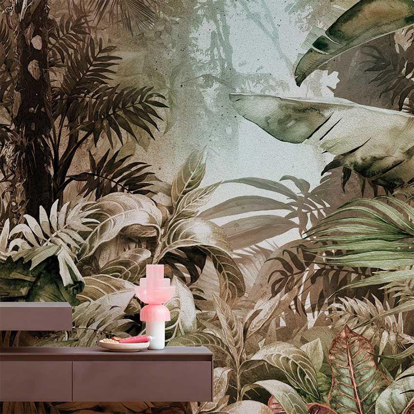 Papier peint jungle, papi