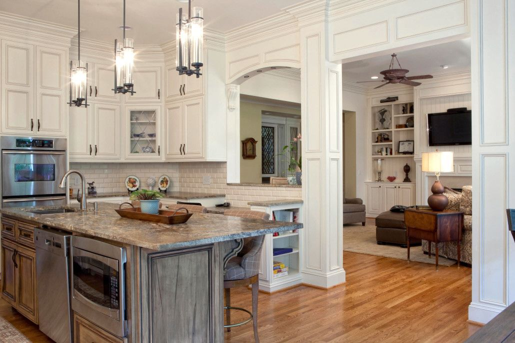 Classic Home, Classic style cabinets, wormy maple,island ...