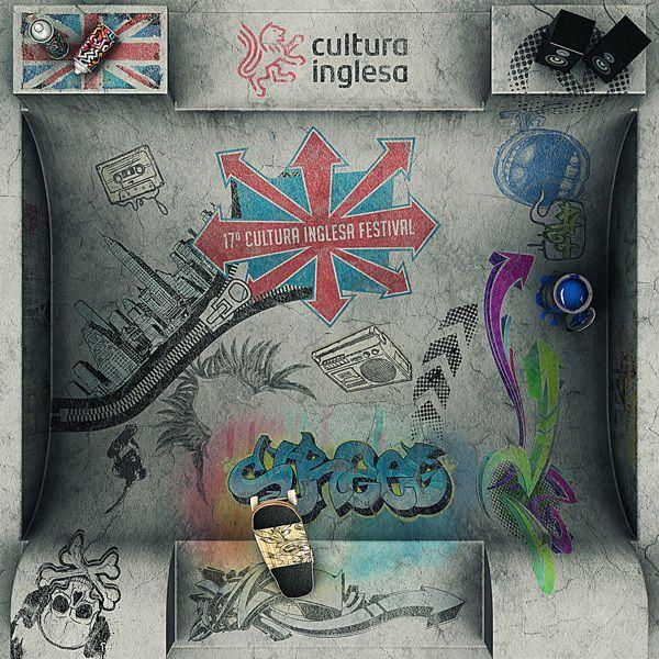 17o Cultura Inglesa Festival by Quad studio , via Behance