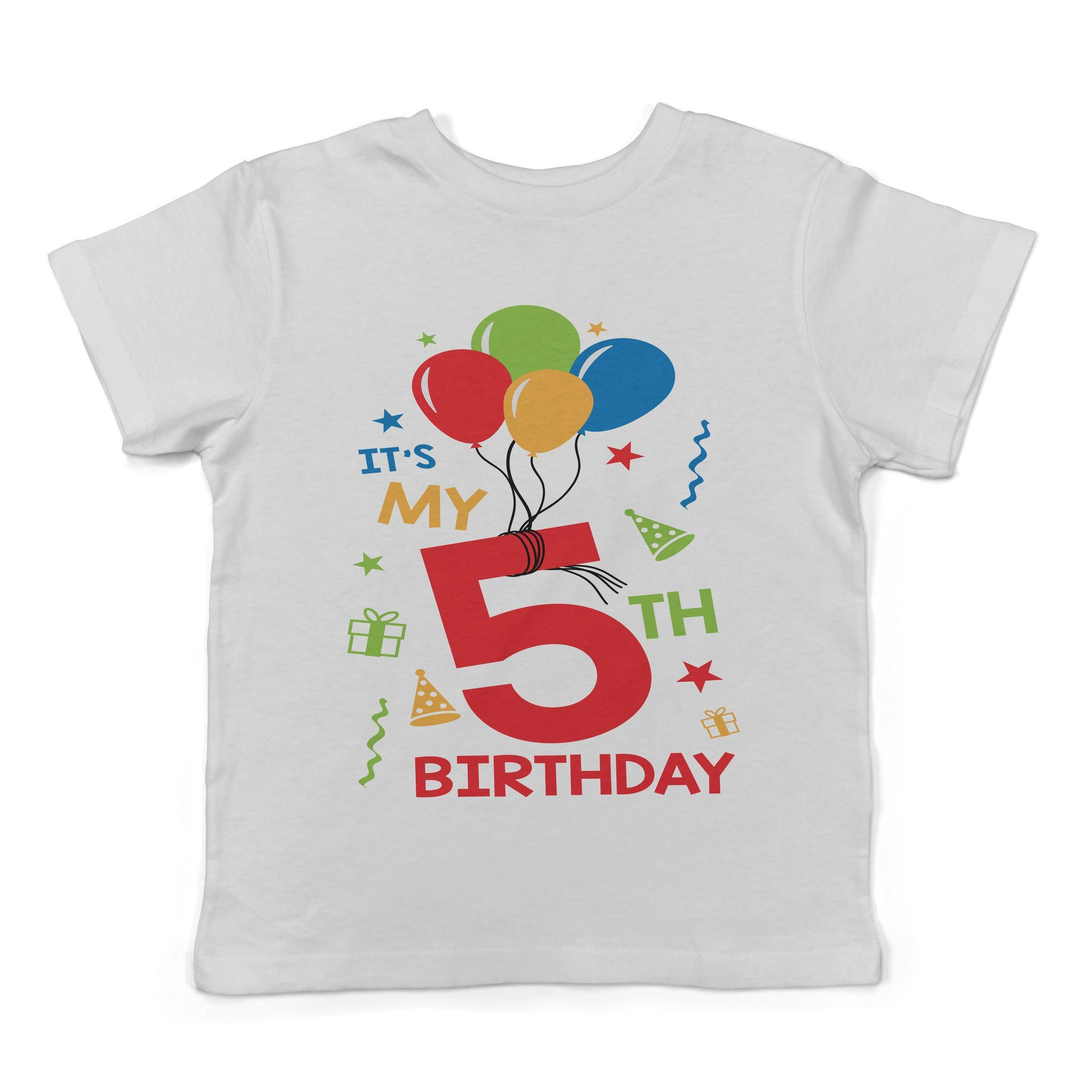 Lil Shirts Its My 5th Birthday Toddler T Shirt