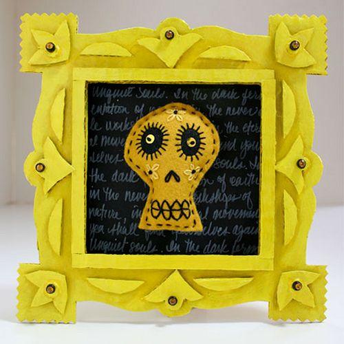 Unquiet Yellow Soul by Rawbone Studio, via Flickr recycled cardboard frames
