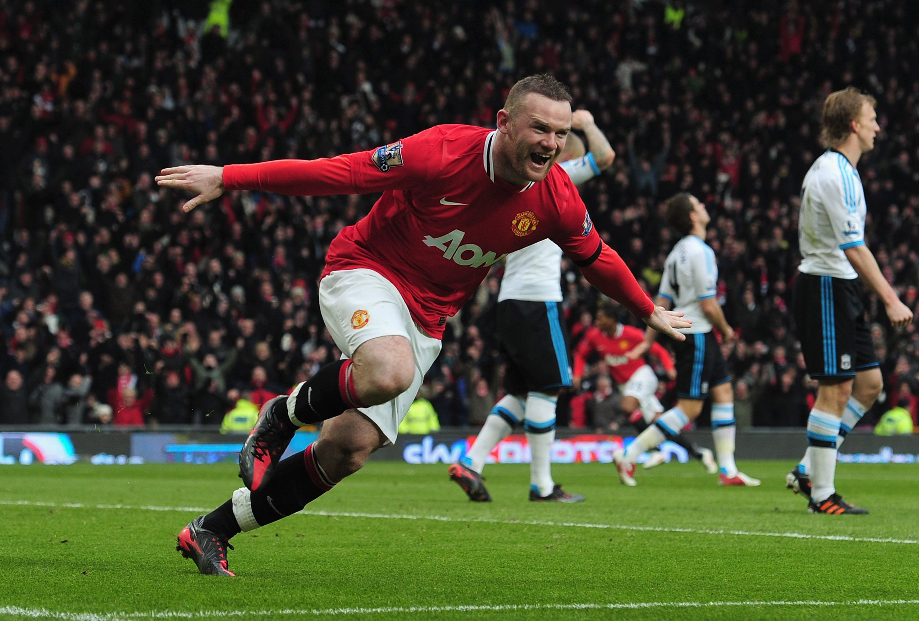 Rooney got Two goals against Liverpool Soccer, Soccer