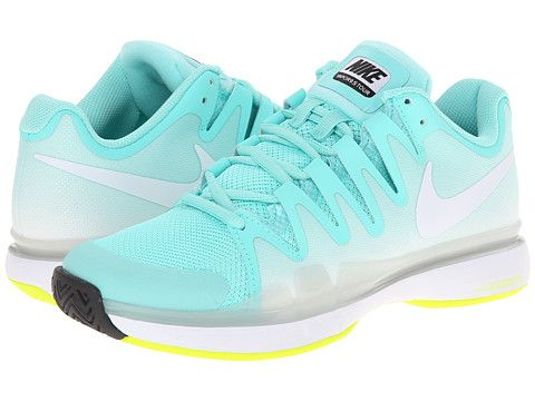 Nike Zoom Vapor 9 5 Tour Bleached Turquoise Volt White Zappos Com Free Shipping Both Ways Womens Tennis Shoes Ecco Shoes Women Nike