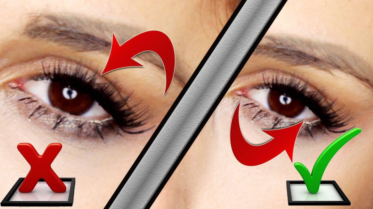 how to apply false eyelashes underneath your own lashes