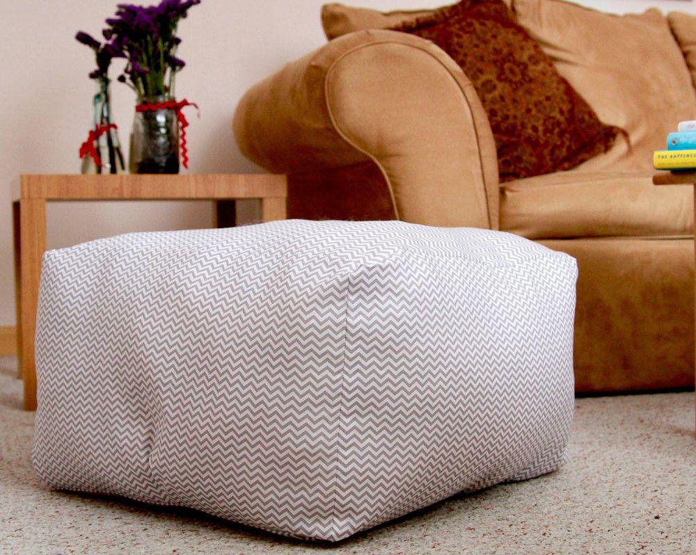 Floor Pillow Poufs | DIYIdeaCenter.com