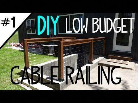 Best Build A Low Cost Cable Railing Part 1 Of 2 Youtube 400 x 300