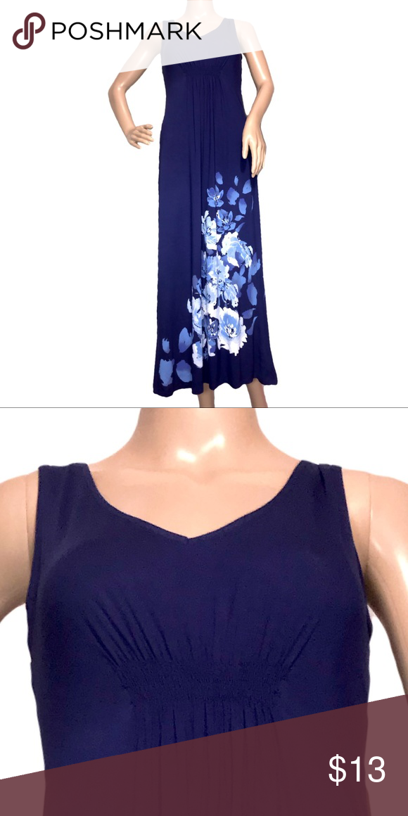 587ba4470a Aflani Floral Print Nightgown Blue XS Alfani Floral Print Nightgown XS  Scrunch center under chest 95