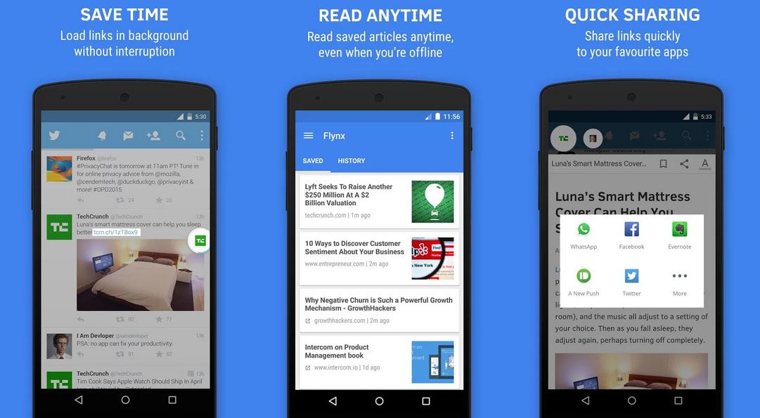 تطبيق Flynx لفتح الروابط داخل التطبيقات في الاندرويد Smart Mattress App Reading
