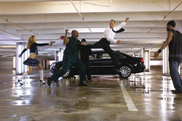 ransporter 2 (2005) 2005 Audi A8 W12 — For the sequel Frank Martin (Jason Statham) trades in his BMW 7 Series for a new top-of-the-line Audi. There may have been product placement involved. | March 26, 2015 | 20th Century Fox