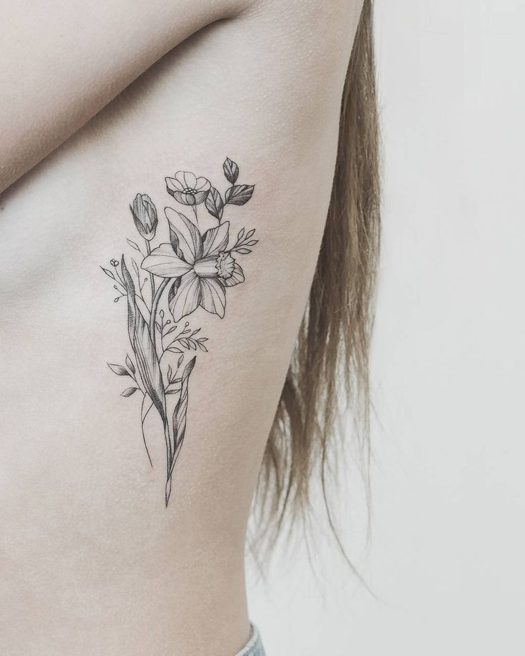 Image result for narcissus flower tattoo Daffodil tattoo